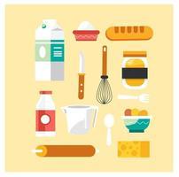 Backwerkzeuge und Lebensmittelsammlung
