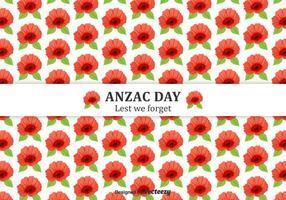 Kostenlose Anzac Day Mohnblumen Vektor Hintergrund