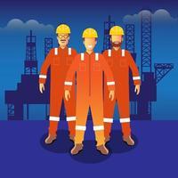 anställda på olja och gas vektor