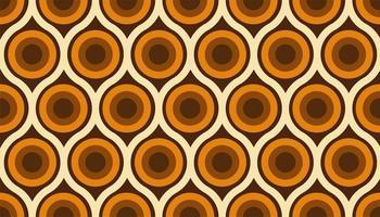 abstrakt 60-talets färgglada sömlösa mönster vektor