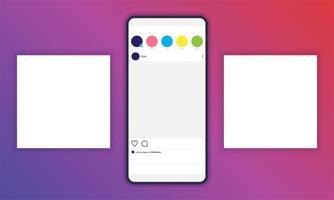 Modell für den Hintergrund in Social Media-Posts mit Smartphone-Vorschau