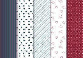 Freier Valentinstag Muster Vektor