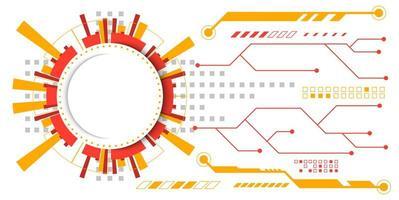 Orange und Gelb abstrakte Schaltungstechnologie Design vektor