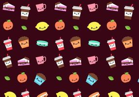 Kostenlose Süßigkeiten Muster Vektor