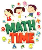 Mathezeit mit glücklichen Kindern