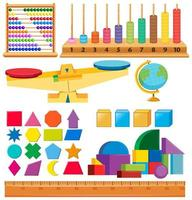 uppsättning former och andra skolartiklar
