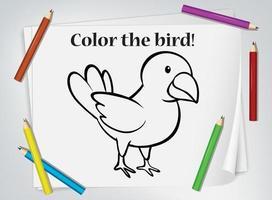 fågel målarblad för målarbok