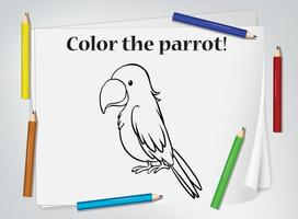 papegoja målarbok