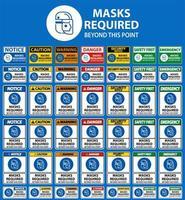 Gesichtsschutzmasken erforderlich Zeichensatz