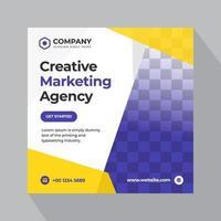 Digitales Marketing Social Media Banner vektor
