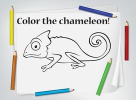 kameleont färgarbetsblad vektor