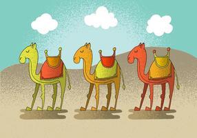 Glad Camel Vector Karaktärer