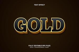 bearbeitbarer Goldtexteffekt vektor