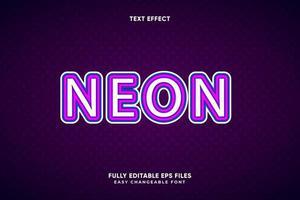 bearbeitbarer Neon-Texteffekt vektor