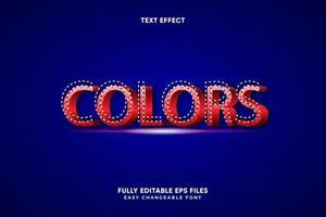 bearbeitbarer Farbentexteffekt vektor