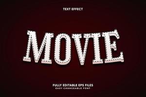 bearbeitbarer Filmtexteffekt vektor