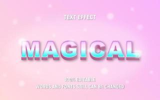 bearbeitbarer magischer Text in Pastellfarben mit Farbverlauf vektor