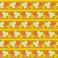 retro blommor rand sömlösa mönster