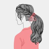 frisyrer för kvinnor i modern stil vektor