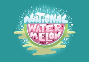 National vattenmelon dag vektor