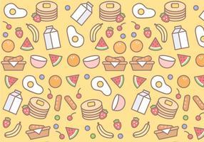 Gratis frukost mönster vektor