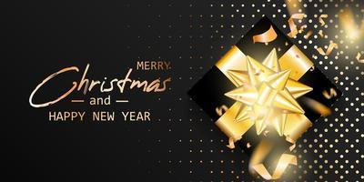 Frohe Weihnachten und frohes neues Jahr Karte vektor