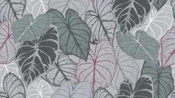 sömlösa mönster av tropiska bladverk