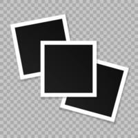 uppsättning fyrkantiga vintage fotoramar vektor