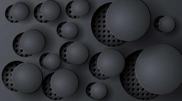 abstrakt 3d cirkel bakgrund med hål vektor