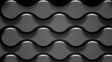 überlappender grauer glänzender Kurvenhintergrund der 3d grau