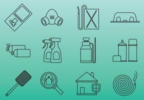 Schädlingsbekämpfung Werkzeug Symbole