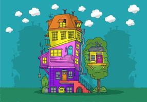 Gestapeltes Haus Vektor