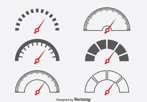 Tachometer symbol vektor uppsättning