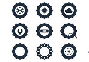 Traktor Reifen Icons vektor