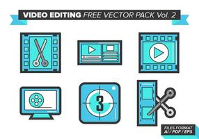 Videobearbeitung Free Vector Pack Vol. 2