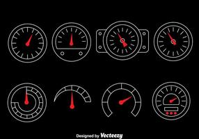 Tachometer Vektor Set