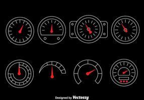 Tachometer vektor uppsättning