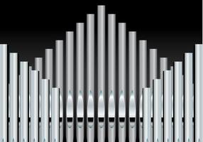 Free Pipe Organ Hintergrund Vektor