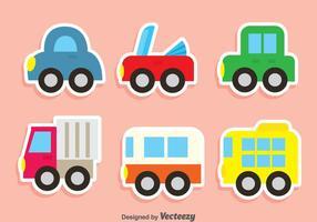 Netter Fahrzeug Vektor Set