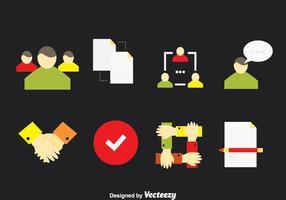 Arbeta tillsammans ikoner vektor