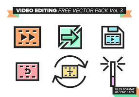 Videobearbeitung Free Vector Pack Vol. 3