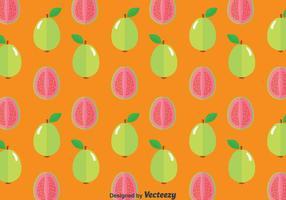 Guave Frucht Nahtlose Muster vektor