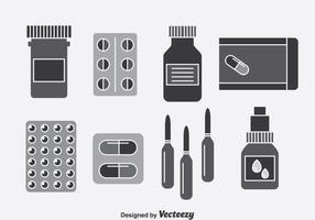 Medizin-Box-Vektor-Set