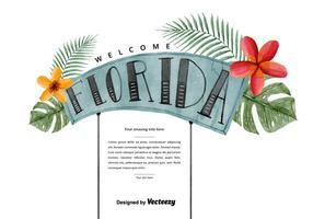 Free Florida Willkommen Aquarell Vektor