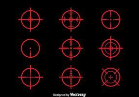 Red Laser Tag Vektor Set