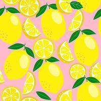 nahtloser Hintergrund mit Zitronen vektor