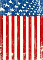 grunge amerikanska flaggan stående orientering vektor