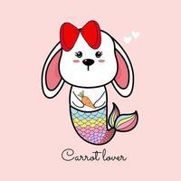 Kaninchen Meerjungfrau Cartoon