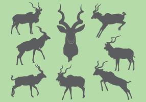Gratis Kudu Silhouette Ikoner vektor