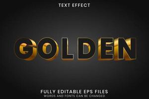 Bearbeitbarer Texteffekt aus schwarzem Gold 3d vektor